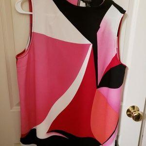 Women's Worthington Dressy Color Block Top XL NWT
